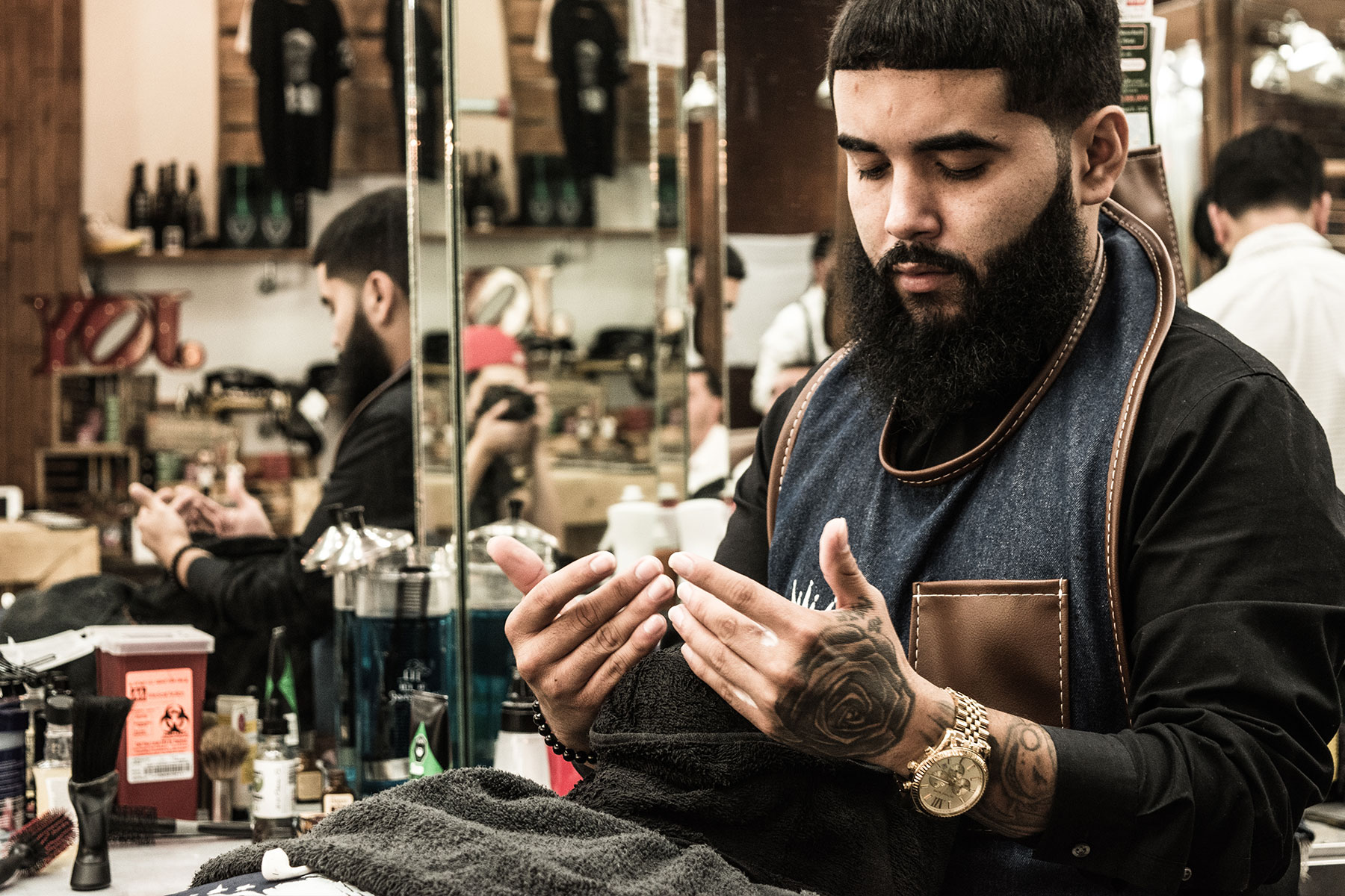 Hot towel Shave   Services   The Spot Barbershop