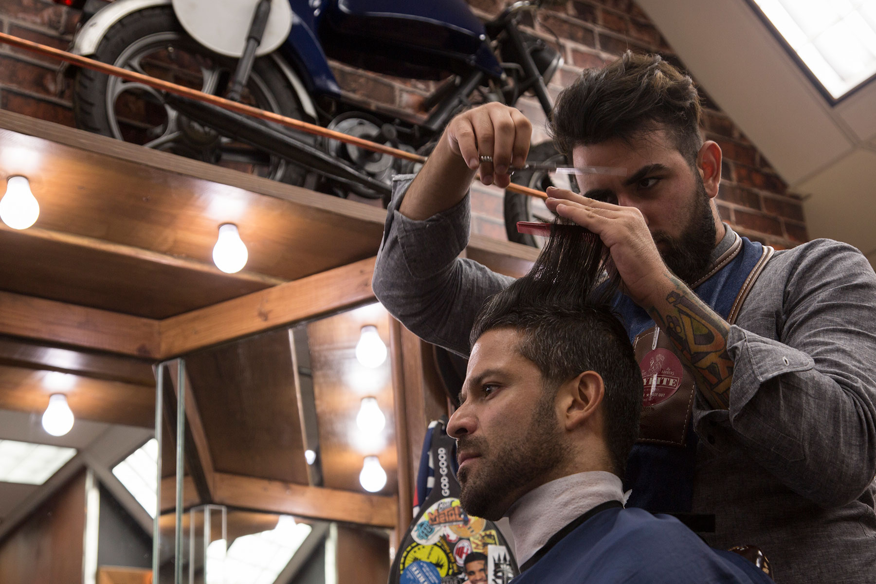 Classic barbershop in a vintage setting